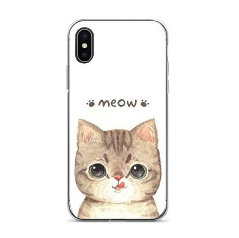 Capa 7 plus Cute cat Diy Printing Drawing phone case For iphone 6 6s 7 7plus 8 8plus X xs xr XS Max cses-101
