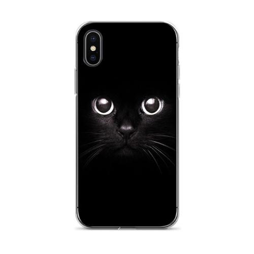 Black Cool Capa 7 Plus Cute Cat Diy Printing Drawing Phone Case