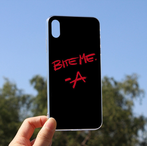 Diy Printed Bite Me Pretty Little Liars Cellphones Cover Coque For iPhone 6plus 6s 6 5 5s SE 7 8 X XS max XR 8plus 7plus 104
